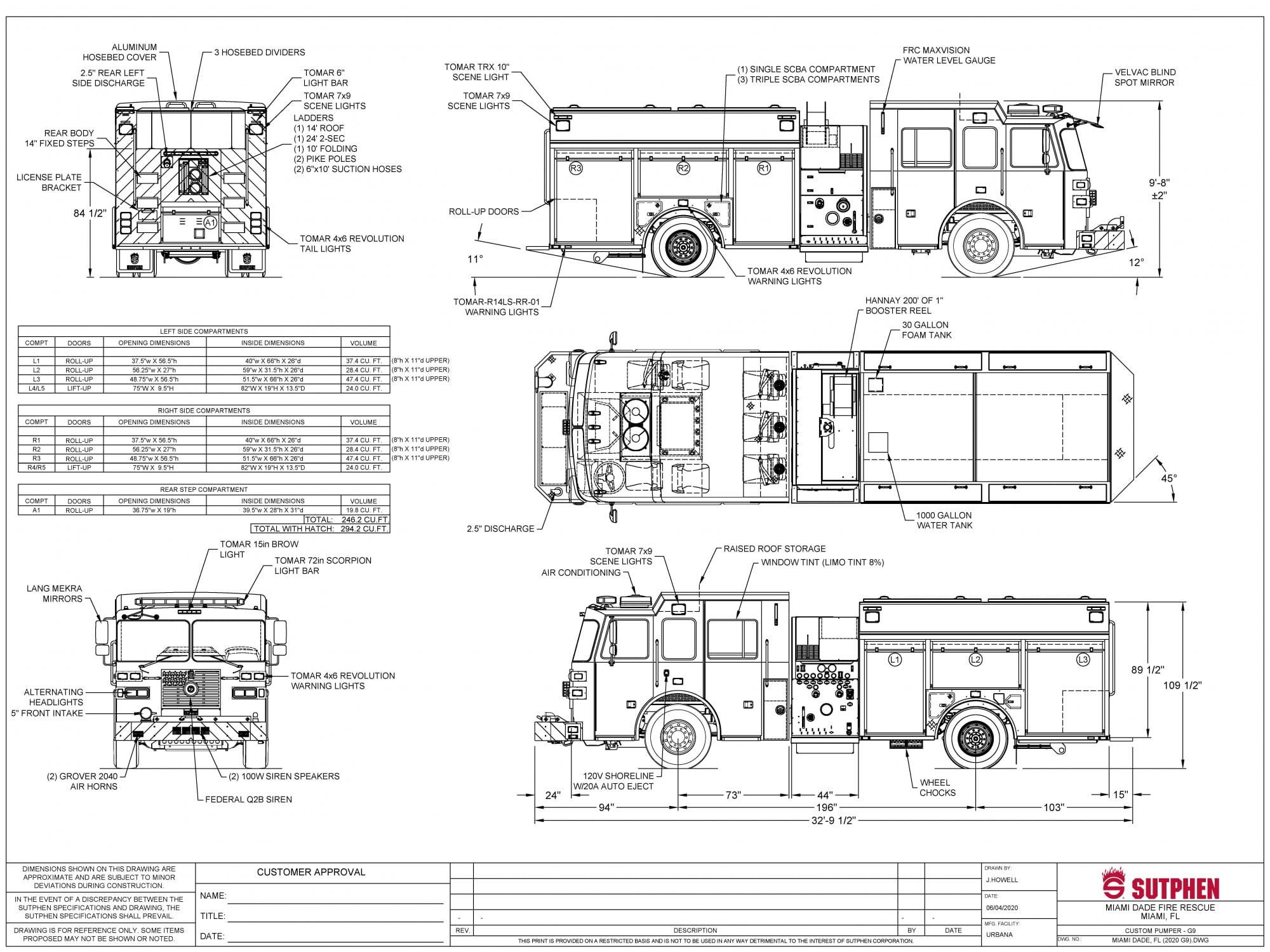 Miami-Dade Fire Rescue Custom Pumper