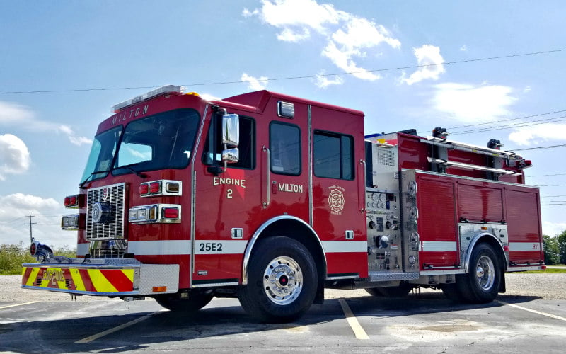 Milton Fire Department Custom Pumper